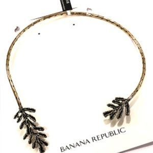 Banana Republic Hammered Open Collar Necklace